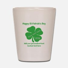 St Patricks Day Personalized Shot Glass