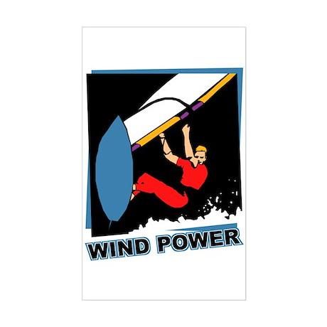 Wind Power Windsurfing Rectangle Sticker