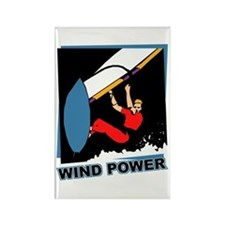 Wind Power Windsurfing Rectangle Magnet