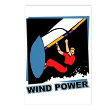 Wind Power Windsurfing Postcards (Package of 8)