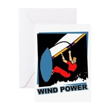 Wind Power Windsurfing Greeting Card
