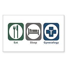 Eat Sleep Gynecology Rectangle Sticker 50 pk)
