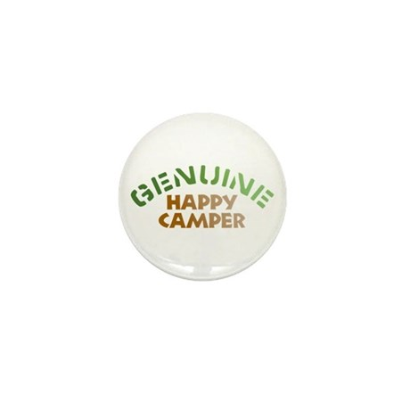 Genuine Happy Camper Mini Button