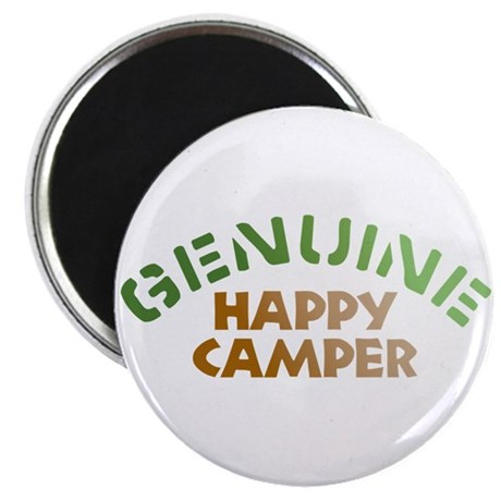 "Genuine Happy Camper 2.25"" Magnet (10 pack)"