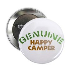 "Genuine Happy Camper 2.25"" Button"
