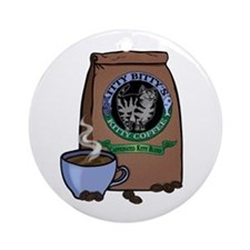 Caffeinated Kitty Blend Ornament (Round)