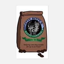 Caffeinated Kitty Blend Rectangle Stickers