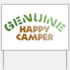 Genuine Happy Camper Yard Sign