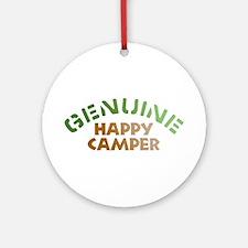 Genuine Happy Camper Ornament (Round)