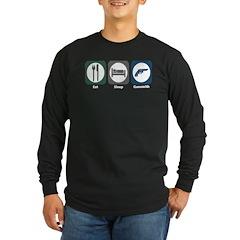 Eat Sleep Gunsmith Long Sleeve Dark T-Shirt