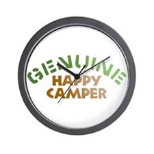 Genuine Happy Camper Wall Clock