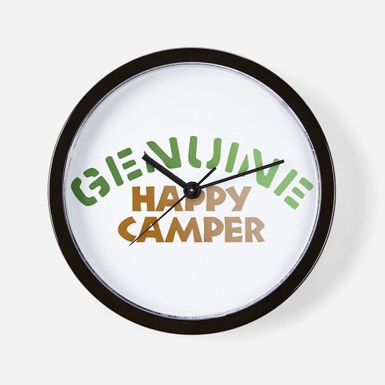 Genuine Happy Camper Wall Clock