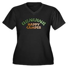 Genuine Happy Camper Women's Plus Size V-Neck Dark