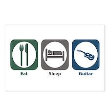 Eat Sleep Guitar Postcards (Package of 8)