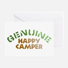 Genuine Happy Camper Greeting Card