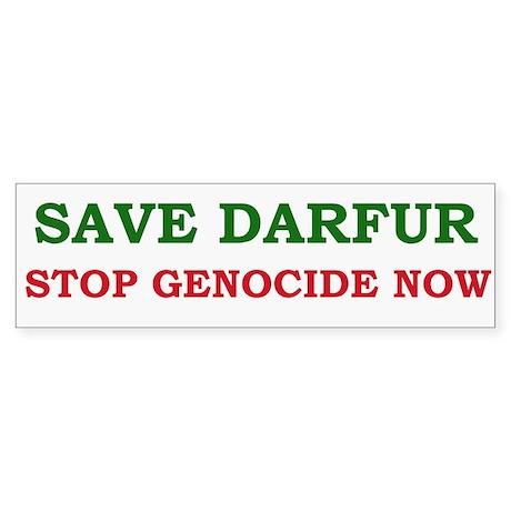 Save Darfur Bumper Sticker
