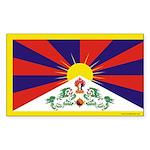 Tibetan Flag Rectangle Sticker 10 pk)