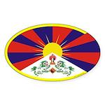 Tibetan Flag Oval Sticker (50 pk)
