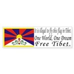 Tibetan Flag Bumper Sticker (50 pk)