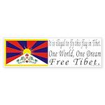 Tibetan Flag Bumper Sticker (10 pk)