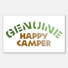Genuine Happy Camper Rectangle Sticker 10 pk)