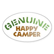 Genuine Happy Camper Oval Sticker (10 pk)