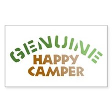 Genuine Happy Camper Rectangle Decal