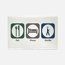 Eat Sleep Guide Rectangle Magnet