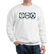Eat Sleep Groceries Sweatshirt