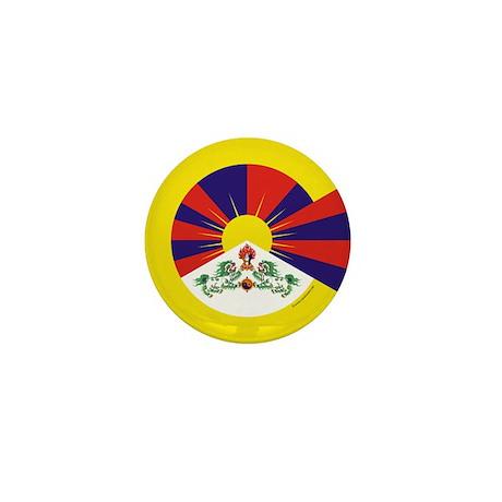 Tibetan Flag Mini Button (100 pack)