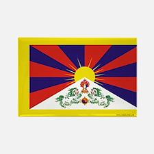 Tibetan Flag Rectangle Magnet