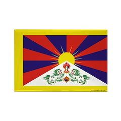 Tibetan Flag Rectangle Magnet (100 pack)