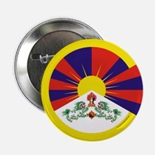 "Tibetan Flag 2.25"" Button"