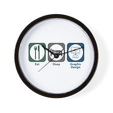 Eat Sleep Graphic Design Wall Clock