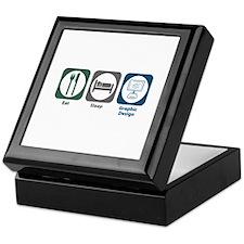 Eat Sleep Graphic Design Keepsake Box