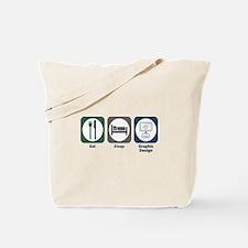 Eat Sleep Graphic Design Tote Bag