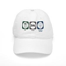 Eat Sleep Graphic Design Hat