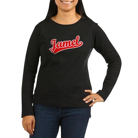Retro Jamel (Red) Women's Long Sleeve Dark T-Shirt