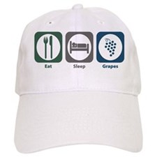 Eat Sleep Grapes Baseball Cap