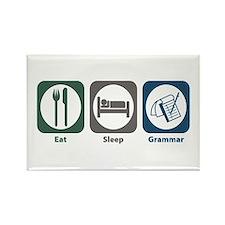 Eat Sleep Grammar Rectangle Magnet (10 pack)