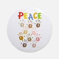 Hands of Peace Ornament (Round)