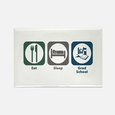 Eat Sleep Grad School Rectangle Magnet