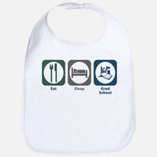 Eat Sleep Grad School Bib