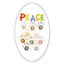 Hands of Peace Oval Decal