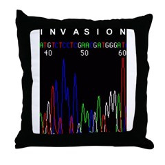 Genomic Invasion Throw Pillow