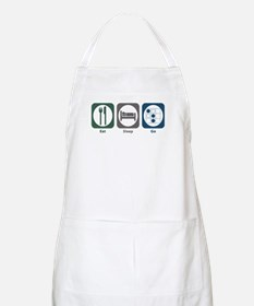 Eat Sleep Go BBQ Apron
