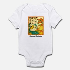 Happy Birthday - Crafty Knitt Infant Bodysuit