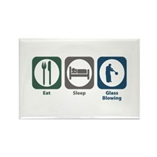 Eat Sleep Glass Blowing Rectangle Magnet