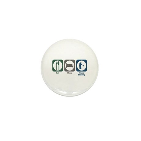 Eat Sleep Glass Blowing Mini Button (100 pack)
