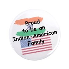 "Indian-American Family 3.5"" Button"